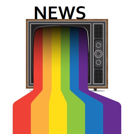 57558478 - retro style tv with pride rainbow. color paint flows from screen. concept illustration